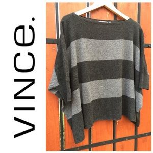 LIKE NEW!  Vince 100% cashmere poncho sweater M/L